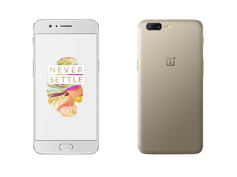 Das OnePlus 5 gibt es jetzt auch in Gold-Design