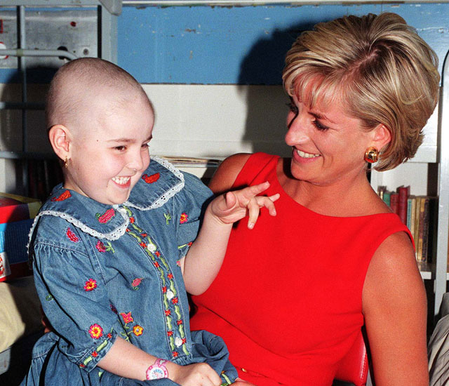 Girl who cuddled Princess Diana in iconic photo dies after cancer battle