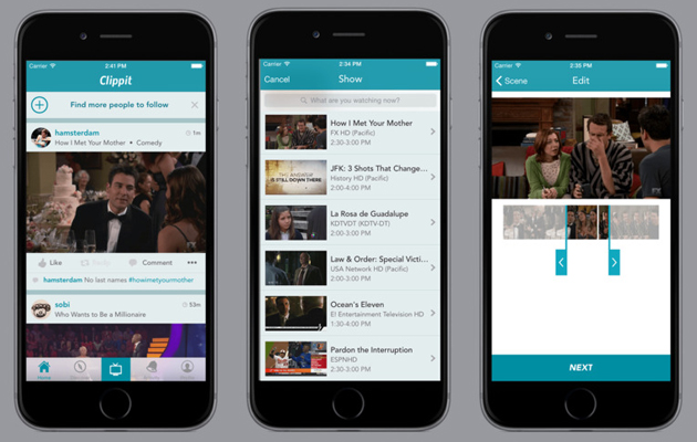 Clippit slices footage from live TV for sharing amongst your pals