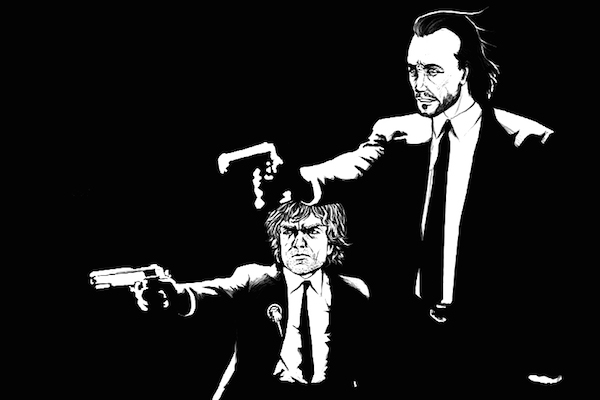 pulp fiction mashups, tyrion lannister bronn game of thrones