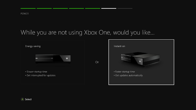 Xbox One adds 'energy-saving' option to the set-up process