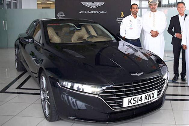 Aston Martin Lagonda sedan in Oman