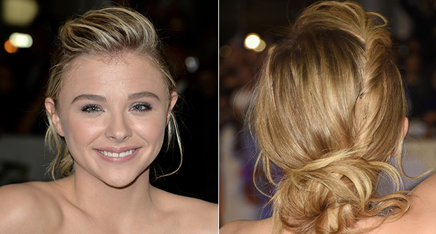 Chloe Grace Moretz's twisty updo is the perfect homecoming hairstyle
