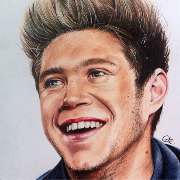 jack ede one direction niall horan portrait