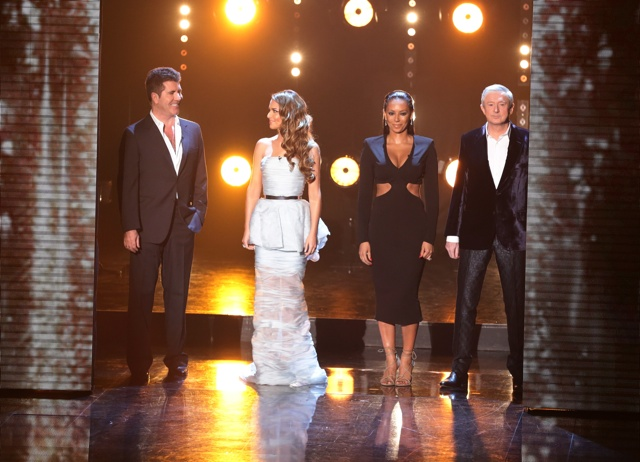 Cheryl Fernandez-Versini trips up on X Factor in restrictive dress