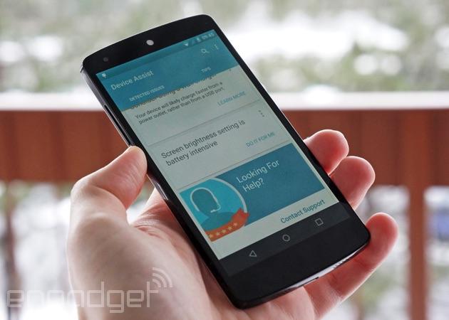 Google Device Assist on a Nexus 5