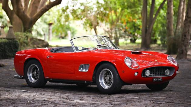 映画『昨日・今日・明日』に登場したフェラーリ「250 GT SWB カリフォルニア スパイダー」がオークションに