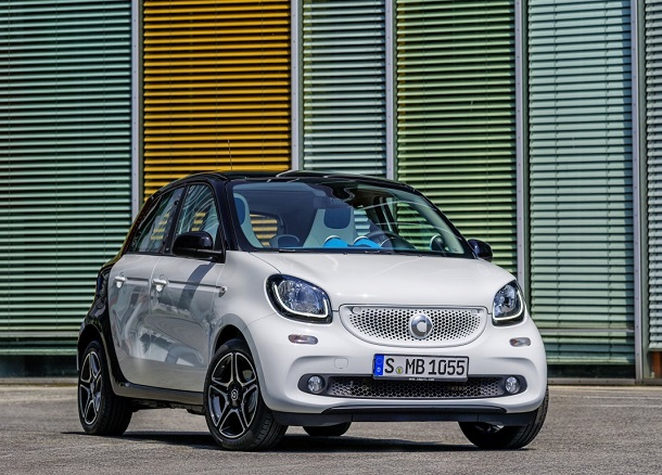 smart forfour, BR W453, 2014 Bodypanels in white, tridion Sicherheitszelle in black  Bodypanels in white, tridion safety cell in black