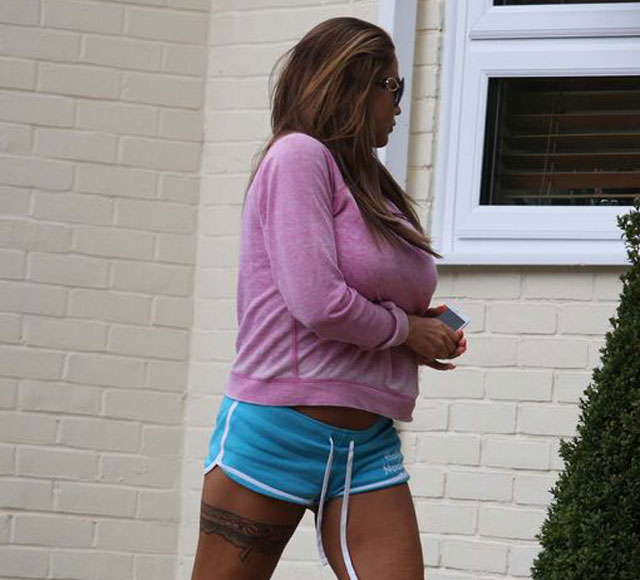 Katie Price at Jane Pountney's house