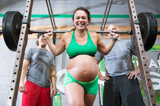 Weightlifting mum