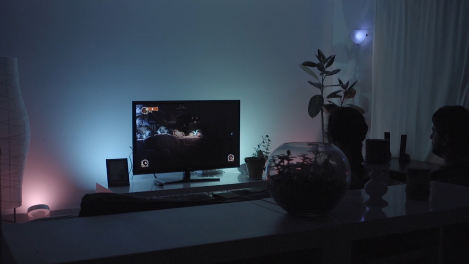Philips Hue lights in sync with 'Chariot'
