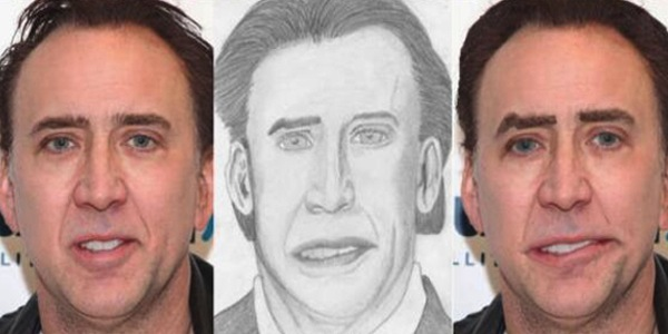 best worst examples of celebrity fan art, bad celebrity drawings, nicolas cage