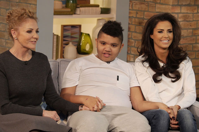 Katie Price and son Harvey and mum Amy Price