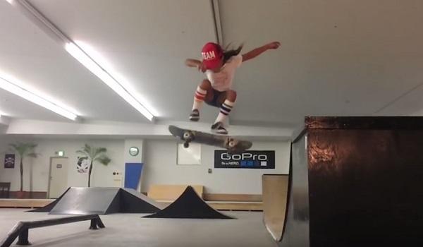 日本出身の8歳の最年少プロスケーター、スカイちゃんがアメリカでも大人気!