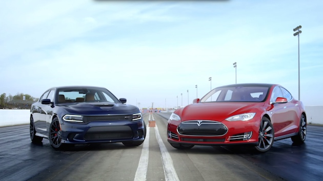 Watch Tesla's souped-up Model S beat the world's fastest sedan
