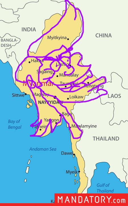 countries that look like pop culture references, funny country outlines, myanmar ace ventura