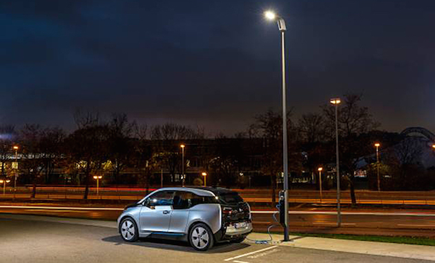 BMW's 'Light & Charge' street lamps double as EV chargers
