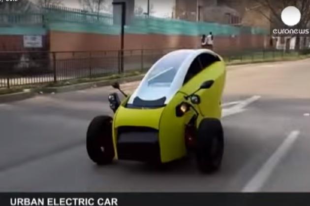 【ビデオ】市販化が期待される南米チリの2人乗り電動三輪自動車「Sôki」
