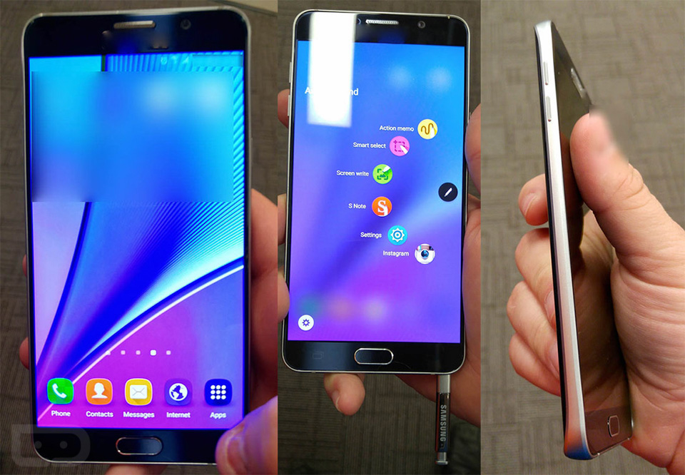 Samsung's Galaxy Note 5, reportedly in the flesh