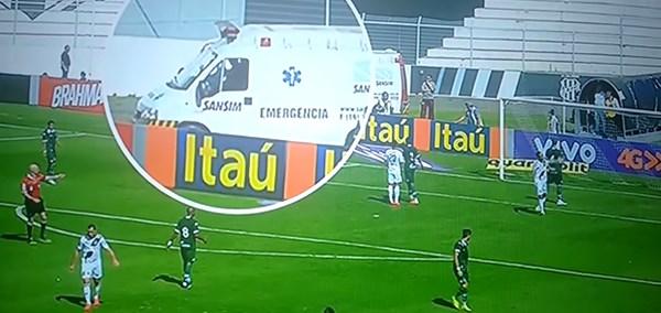 ブラジルのサッカー選手が強引に放ったクロスが予想外の弾道を描く!衝撃の結果へ【動画】