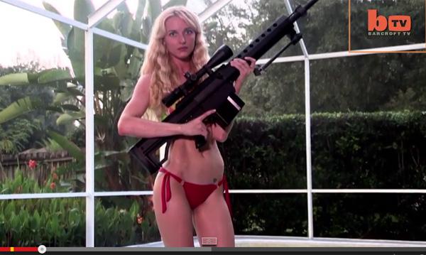 大好物はAK47S!? 銃を乱射するガンマニア美女