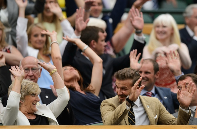 David Beckham treats mum Sandra to day at Wimbledon