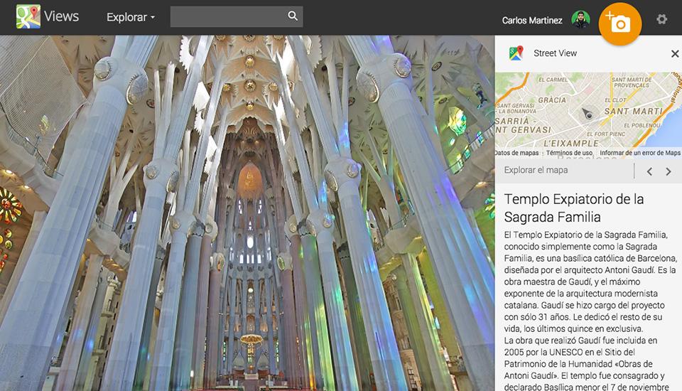 Cuélate en la Sagrada Familia y otros monumentos con Street View
