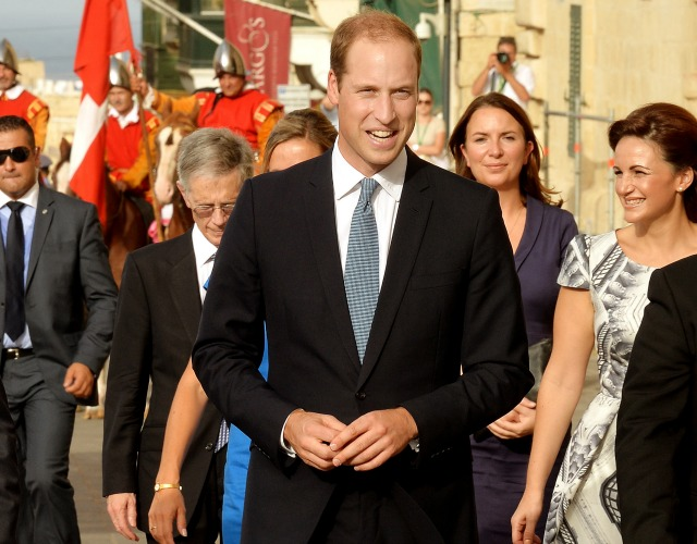 Prince William in Malta