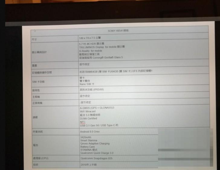 Sony H8541: Leak des randlosen Flagschiffs?
