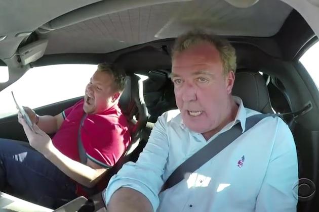 【ビデオ】新番組『グランド・ツアー』の司会者3人が、クイズに答えながらレースに挑戦!