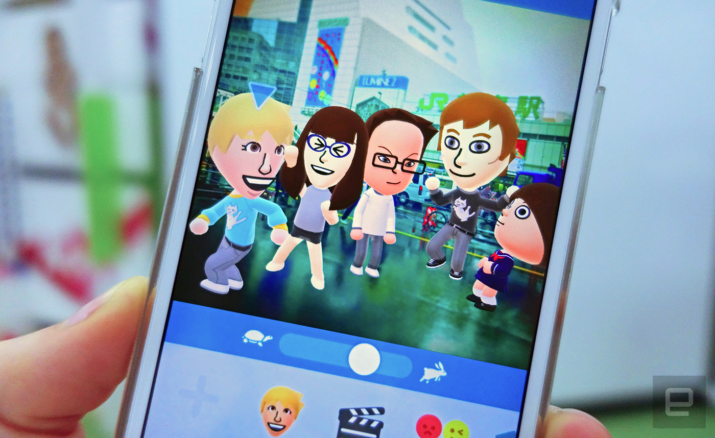Nintendo's Miitomo app racks up 1 million users in Japan