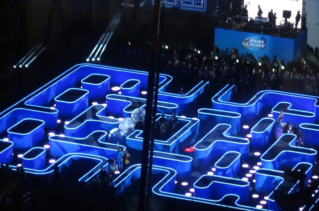 Real-world Pac-Man maze is what dreams, Super Bowl ads are made of
