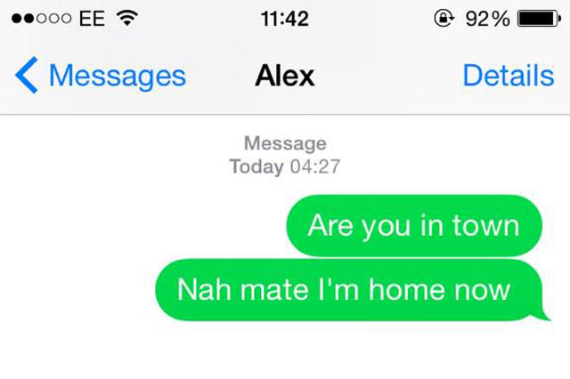 Teenager got so drunk he replied to his own text message after a night out
