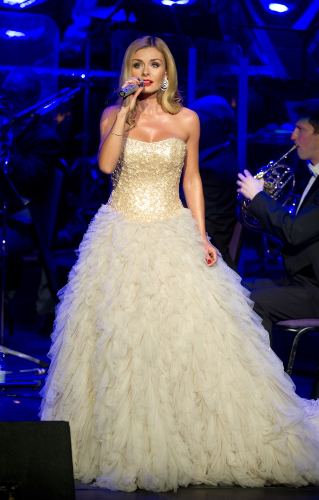 Katherine Jenkins channels a Disney princess in glittering ballgown