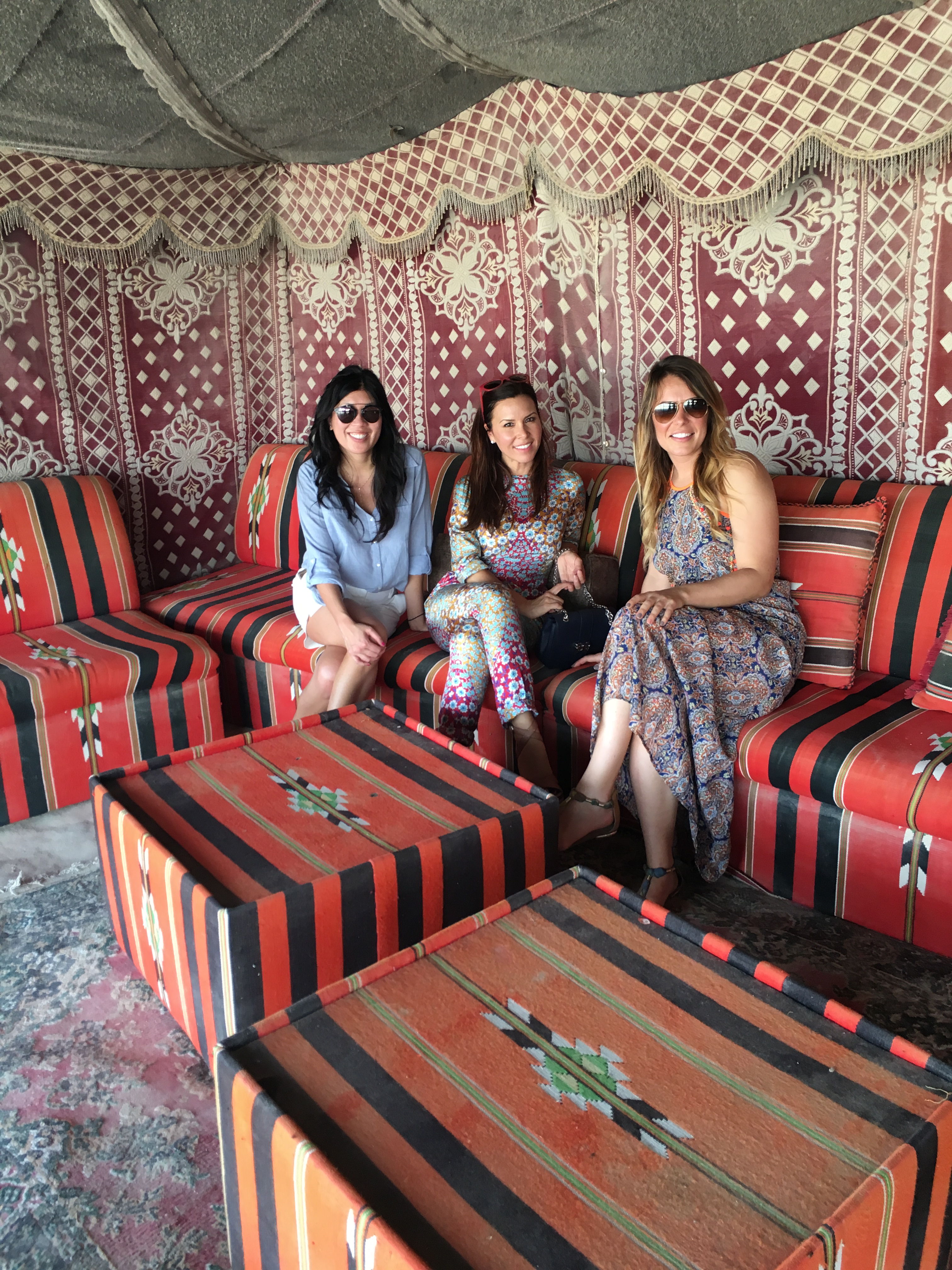 Monique Lhuillier travel diary: Taking in the bright colors inside our tent