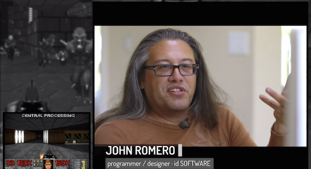 'Doom' designer John Romero tells you all about the game while playing it