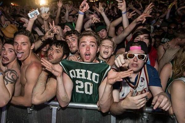 party schools, biggest party schools, party college, ohio U