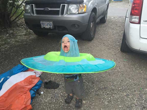 Kid With A Raft On His Head Gets The Photoshop Treatment
