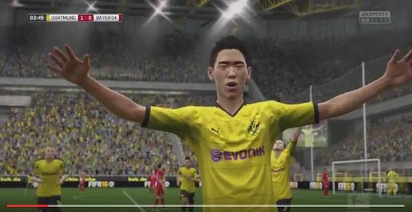 ドルトムント・香川慎司が無双すぎる!ブンデスリーガ公式がゲーム「FIFA2016」でシュミレーション、実際の試合結果はそれ以上だった!