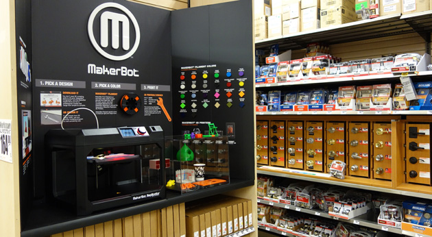 MakerBot 3D printers now available in a dozen Home Depot