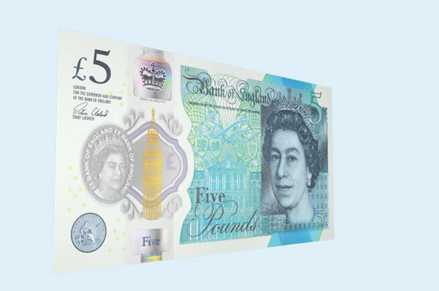 Vegans want 'fat-free' UK 5-pound bank note
