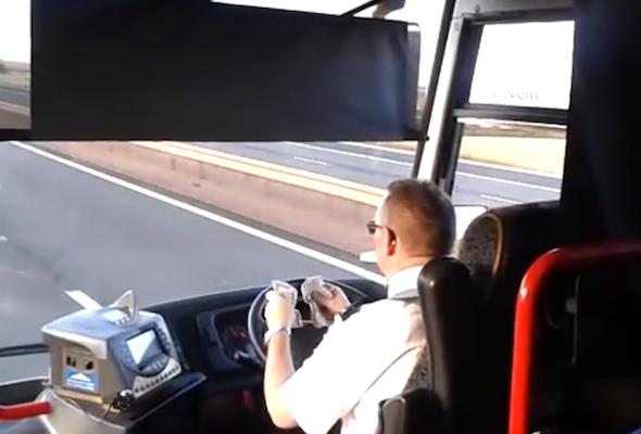 careless bus driver