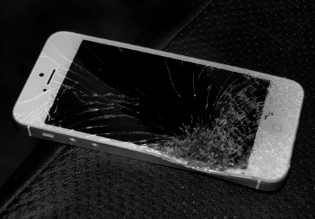 busted iphone
