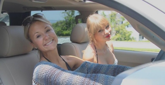 Taylor Swift and her friend Britany Maack