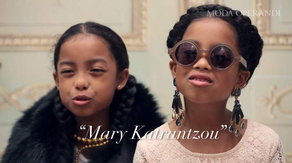 Too cute! Little girls pronounce very difficult designer names