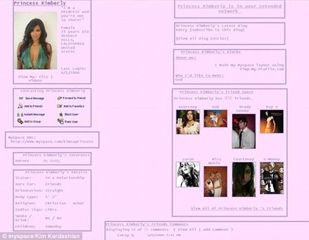 Kim Kardashian MySpace 2006
