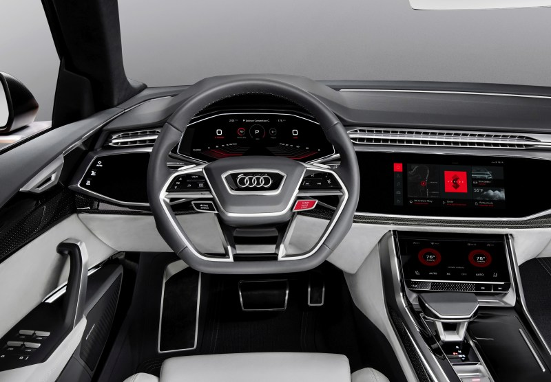 Audi Q8 sport concept  Interior with seamless integrated Android.