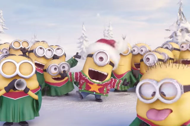 Despicable Me Minions wish you a Merry Christmas!