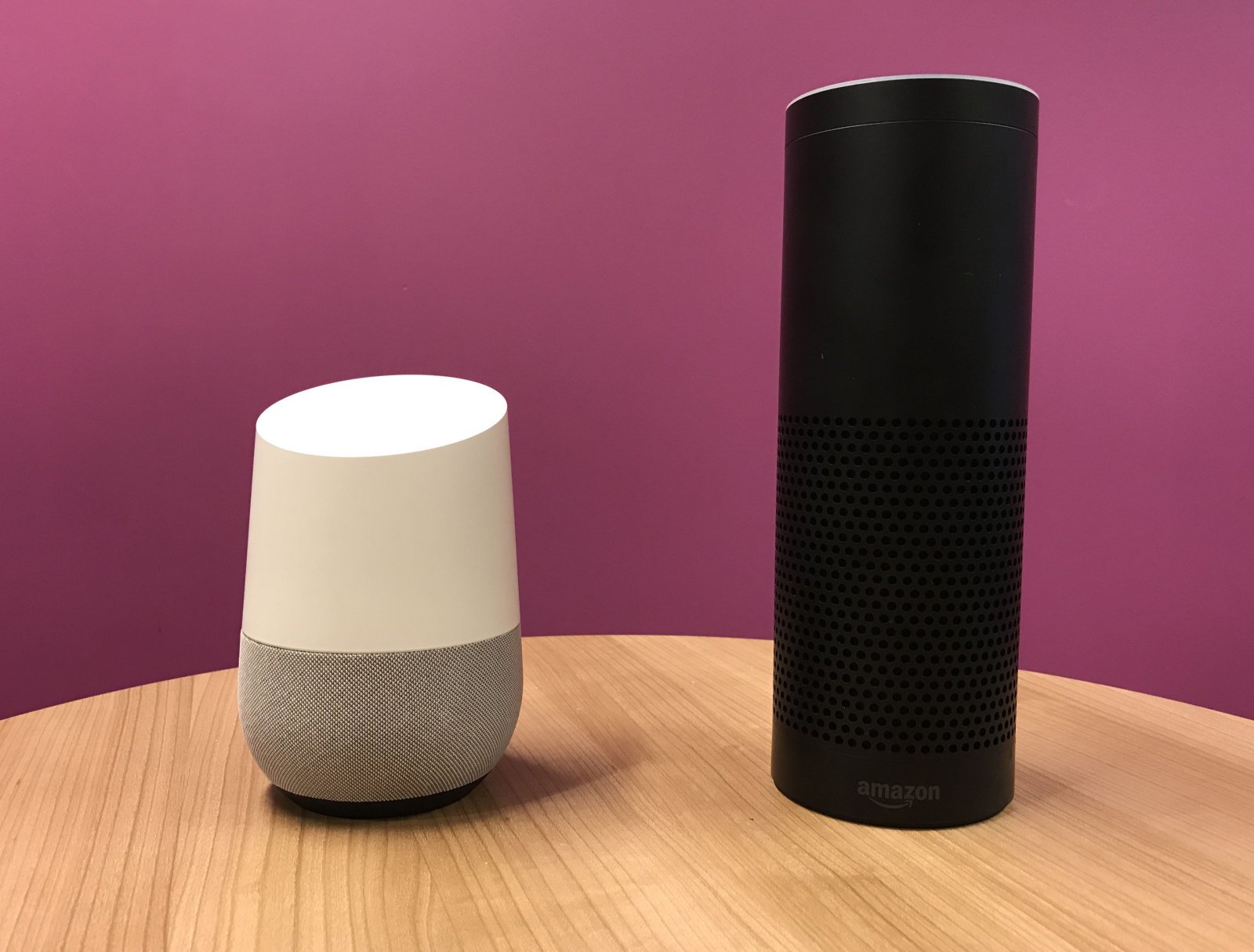Embargoed to 0800 Wednesday October 25 File photo Google Home (left) and Amazon's Echo (right), as nearly a quarter of British households now contain a smart home product, according to new research.