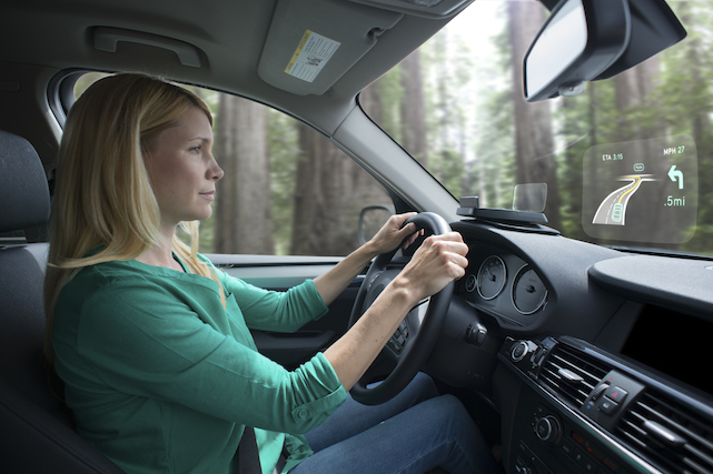 Navdy in-car HUD